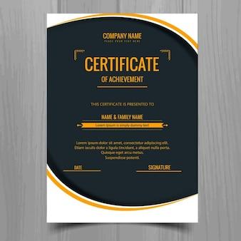 Modern stylish certificate template