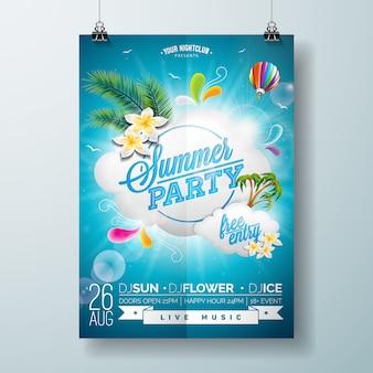 Modern summer party poster