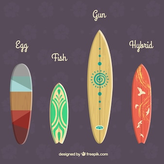 Modern surfboards collection