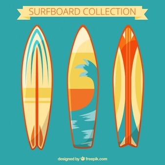 Modern surfboards set