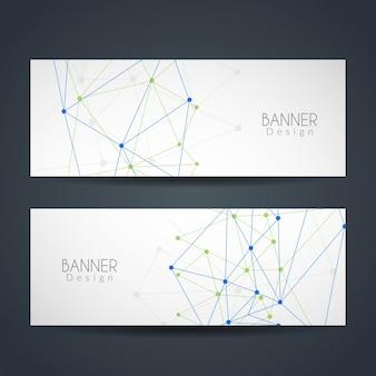 Modern technological banners