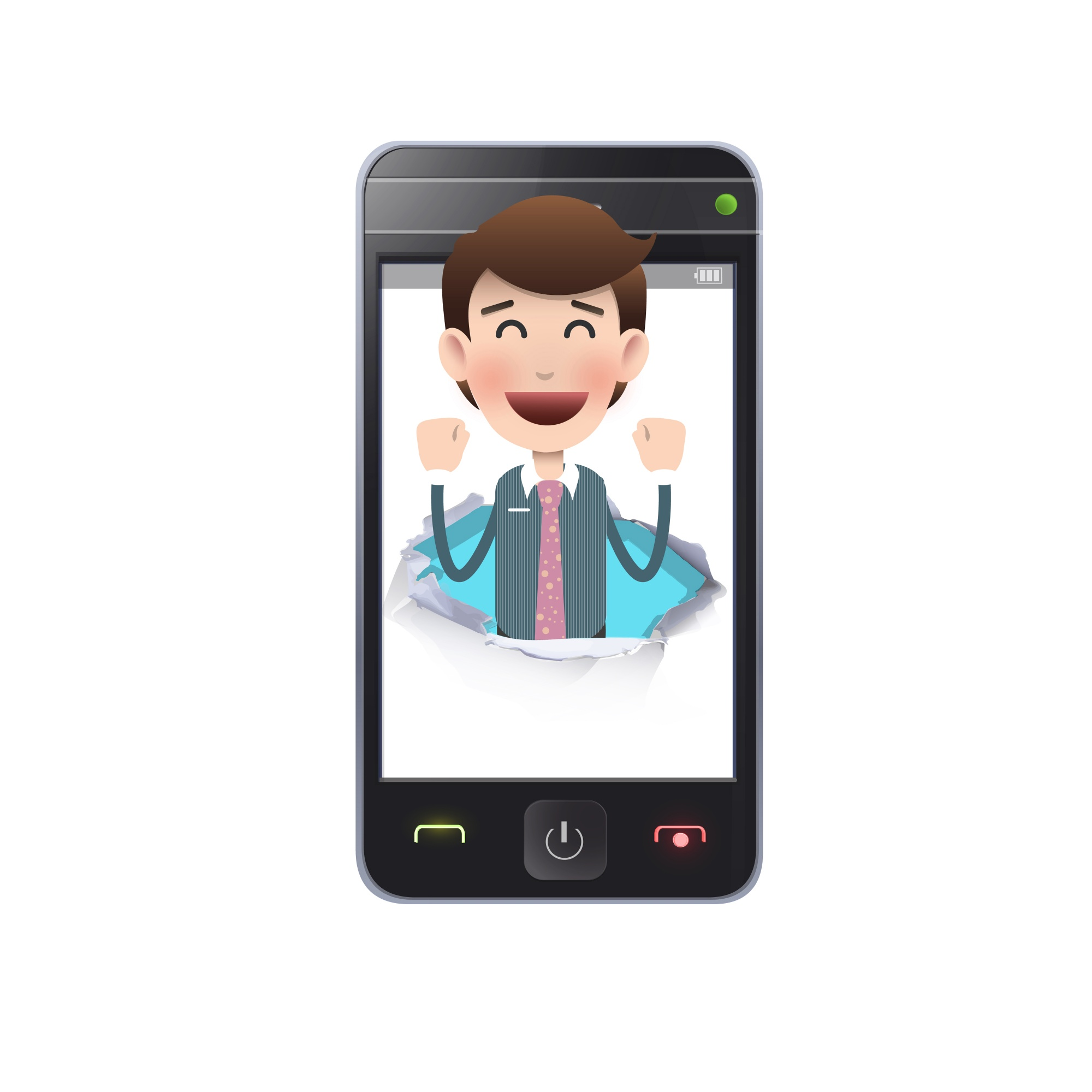 Modern telephone gadget young message