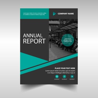 Modern template of annual report