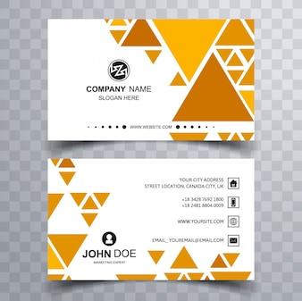 Modern triangular business card