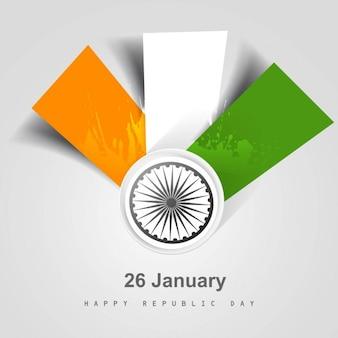 Modern tricolor Indian flag card