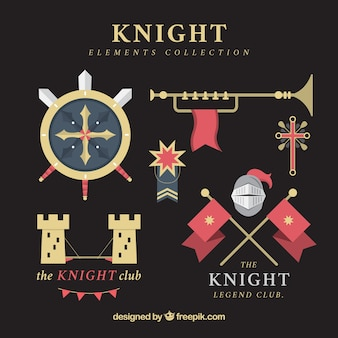 Modern variety of flat knight elements
