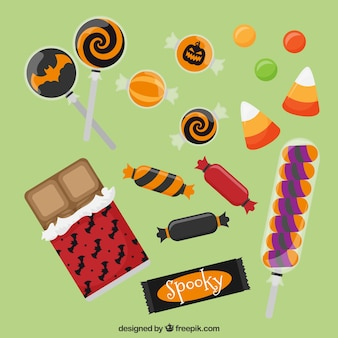 Modern variety of halloween candies
