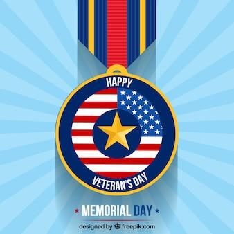 Modern veterans day medal