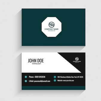 Modern visiting card with octagon
