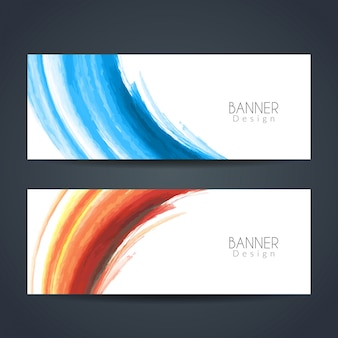 Modern watercolor banners