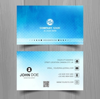 Modern watercolor business card