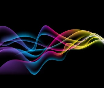 modern waves background logo vector