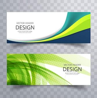 Modern wavy banners