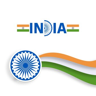 Modern wavy indian independence day design