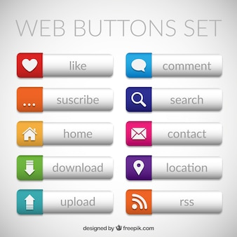 Modern web buttons pack