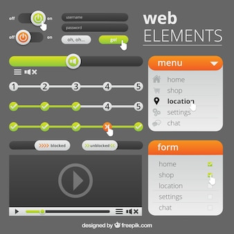 Modern web element collection