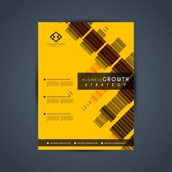 Modern yellow brochure