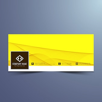 Modern yellow facebook timeline design