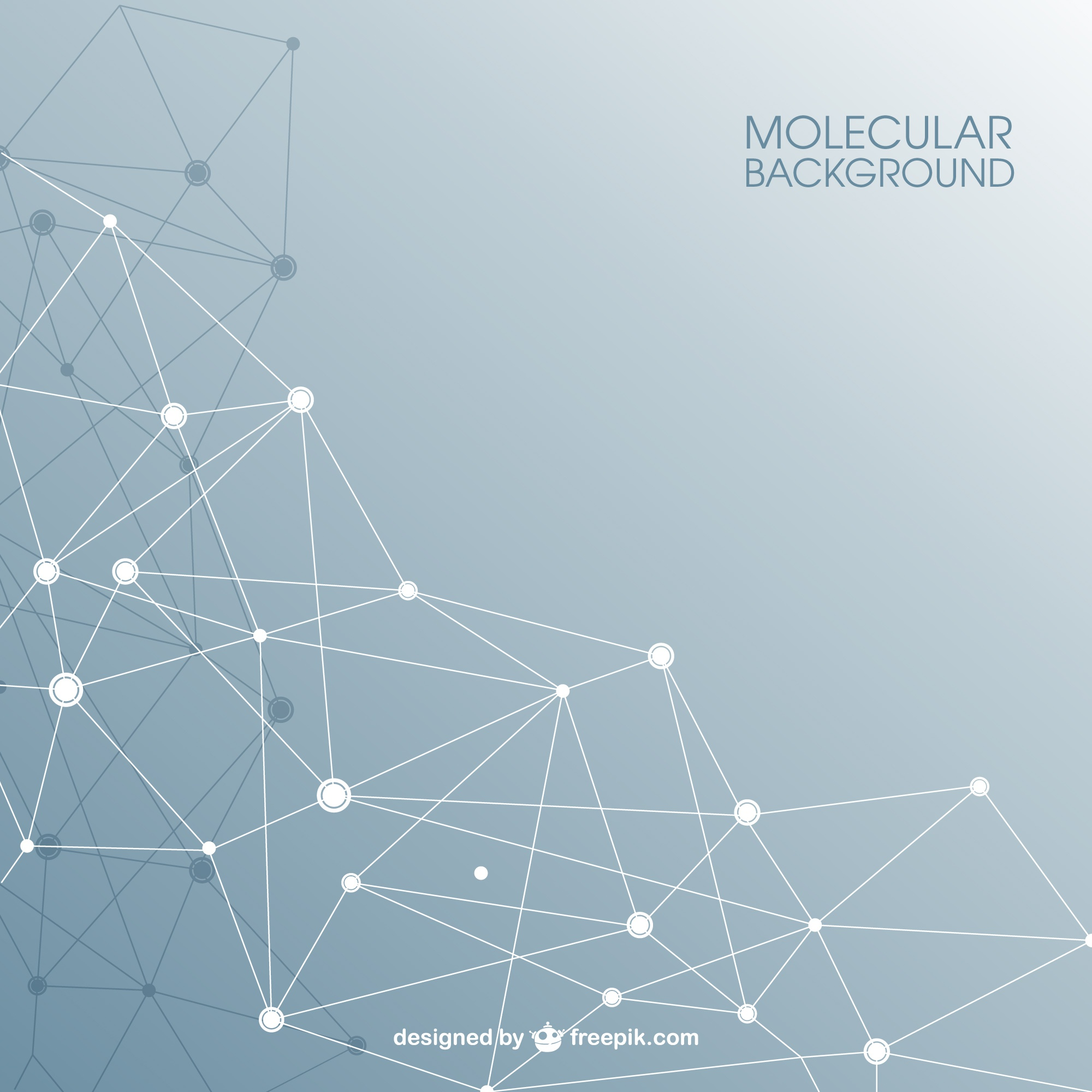 Molecular structure abstract background