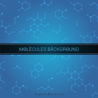 Molecules background design