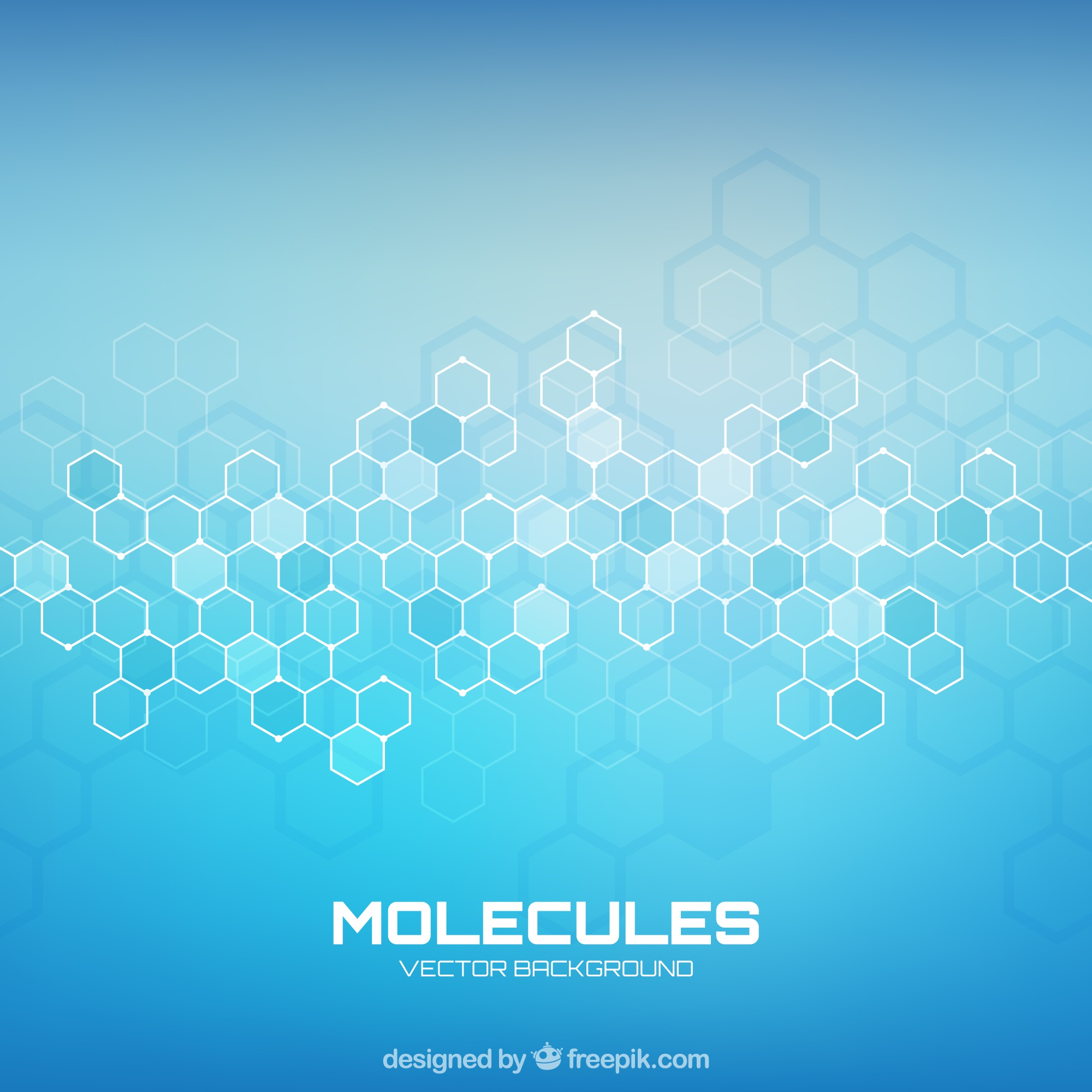 Molecules background with geometric style