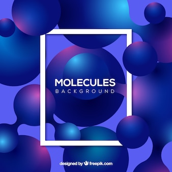 Molecules background with modern frame