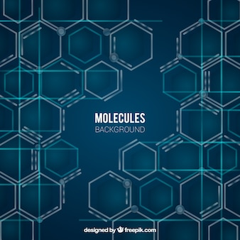 Molecules background with modern style