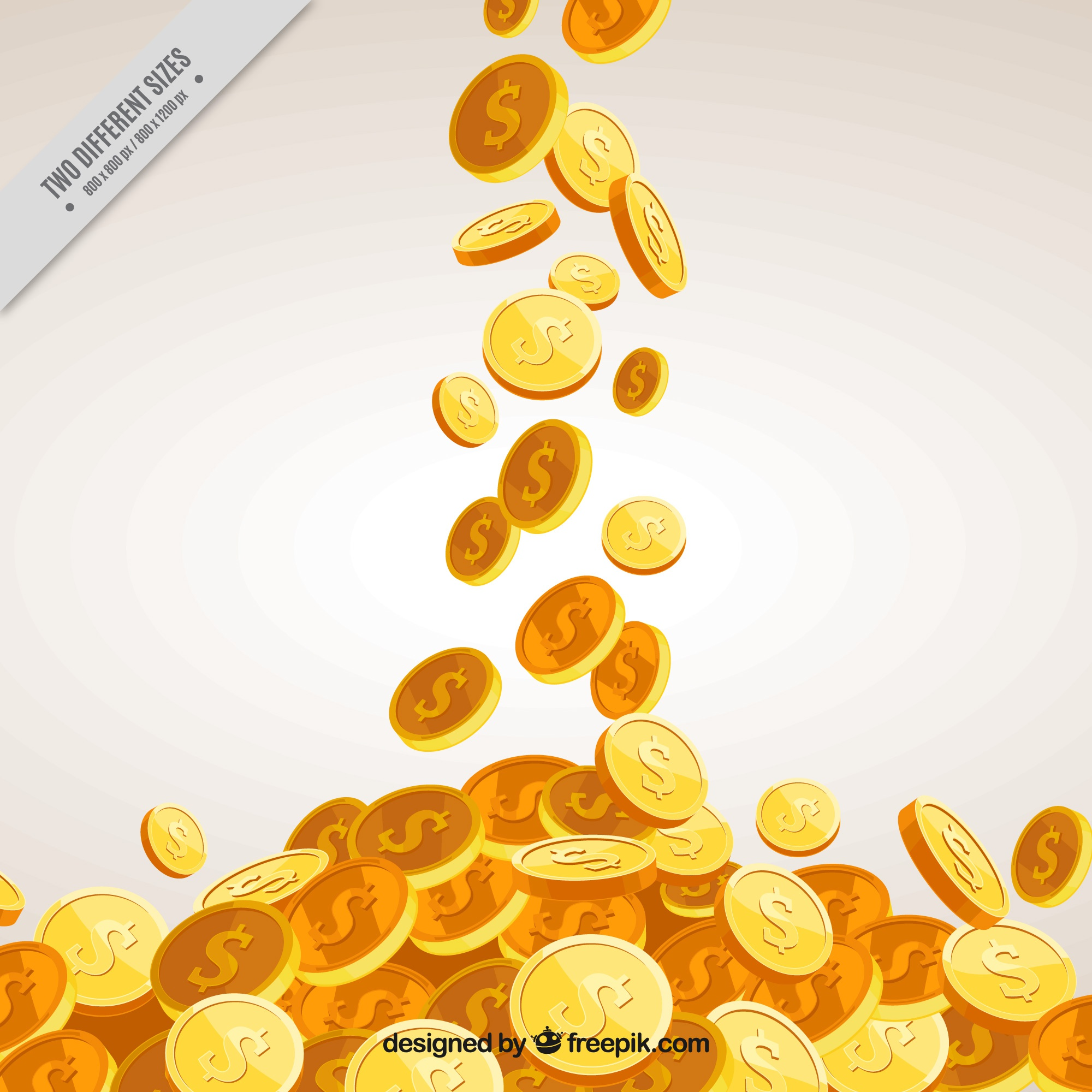 Money background with decorative golden coins