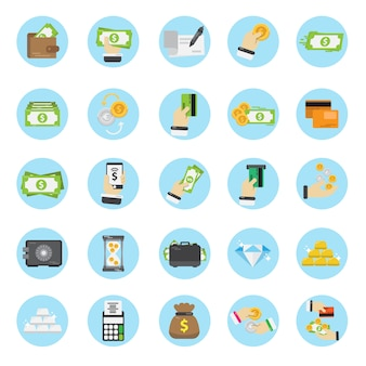 Money icons collection