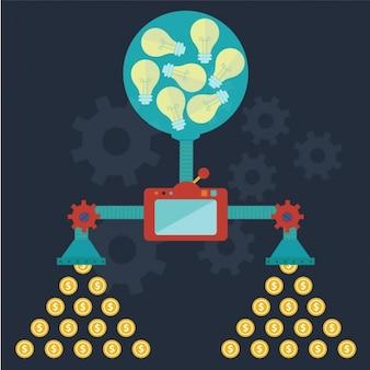 Money machine background design