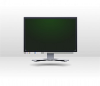 monitor lcd with green screen