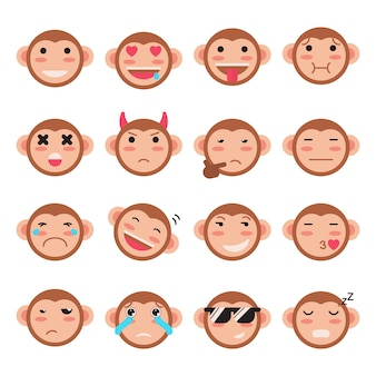 Monkey facial expressions collection