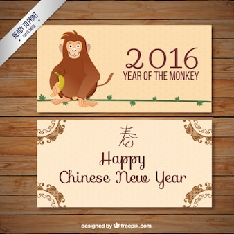 Monkey new year banners
