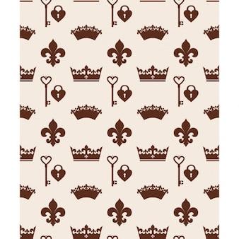 Monochromatic crowns pattern