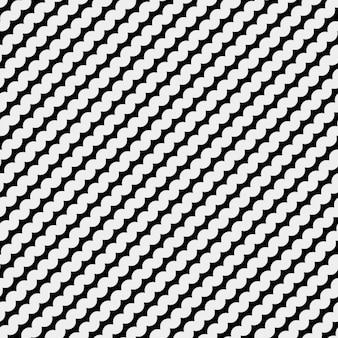 Монохромный рисунок с волнистыми линиями