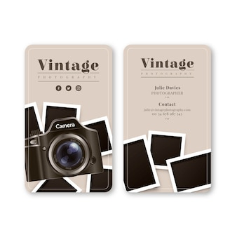 Monochrome business card for photography