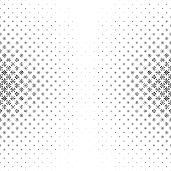 Monochrome geometric stylized flower pattern - vector background illustration from curved shapes
