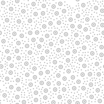 Monochrome pattern background with circles and dots