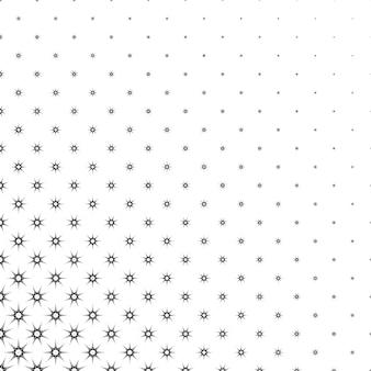 モノクロの星のパターン - 抽象的なベクトルの背景のデザイン