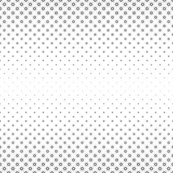 Monochrome star pattern - abstract vector background from polygonal shapes