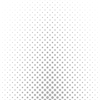 Монохромный звездный узор - геометрический полутоновый абстрактный векторный фон графический дизайн