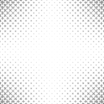 Monochrome star pattern - vector background graphic
