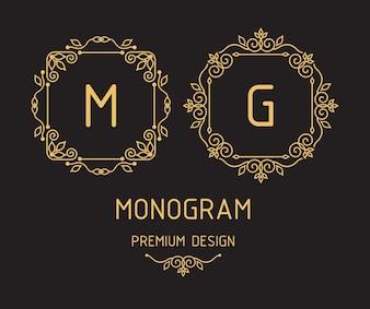 Шаблоны дизайна монограммы
