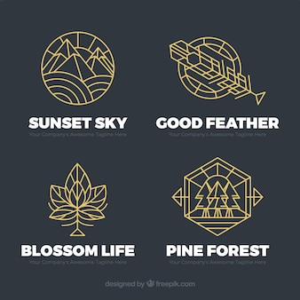 Monoline nature logo pack