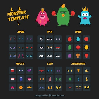 monster character template