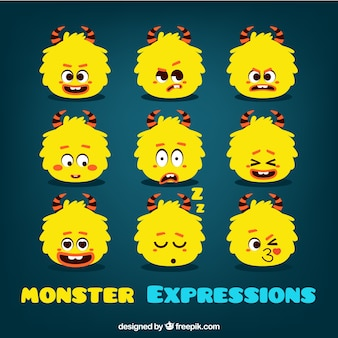 Monster smiley collection