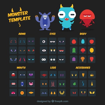 Monster template kit