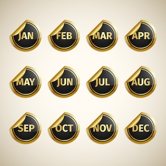 Month icon design