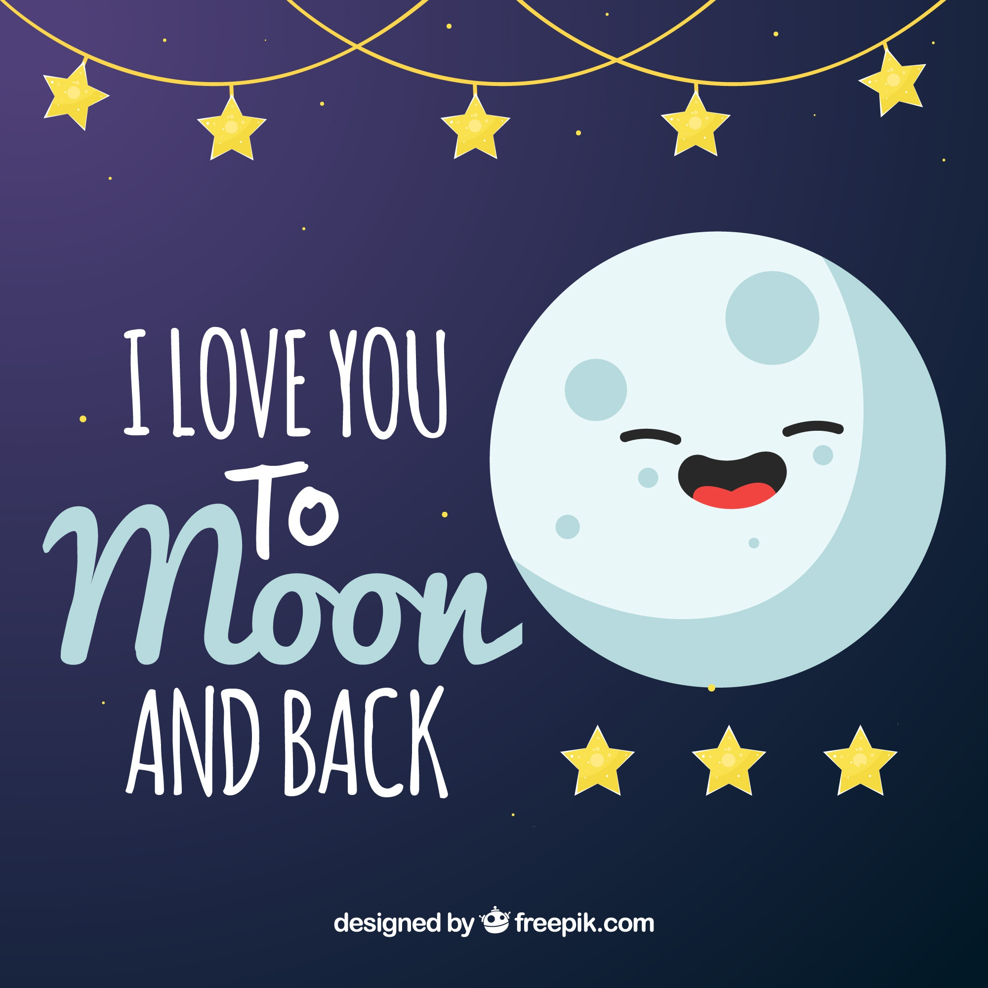 Moon background with phrase