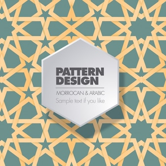 Moroccan and arabic pattern design